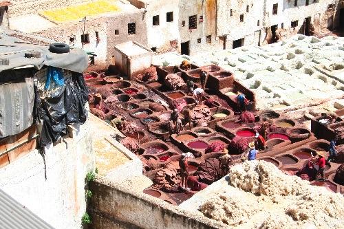Marokko - Faerbereien-small