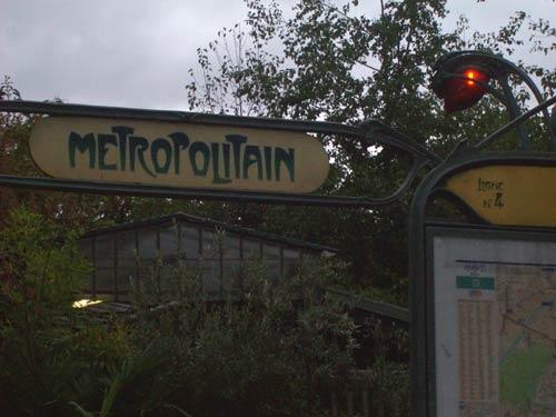 alter Metro Eingang: Metropolitain