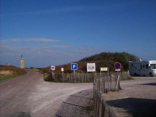 Wohnmobil Stellplatz in Sichtweite des Leuchtturms