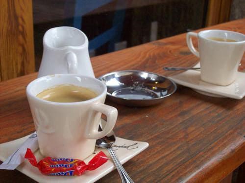 letzter Kaffe vor der Abfahrt