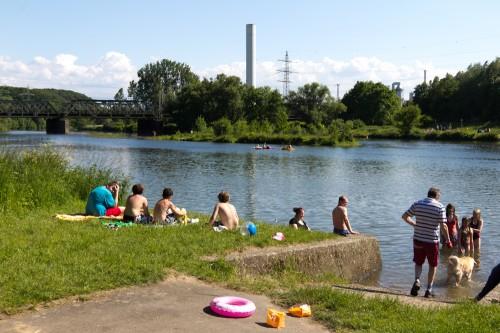 Die Ruhr bei Hohensyburg, kaum wiederzuerkennen!