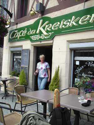 Cafe du Kreisker mit Ute und Bierchen