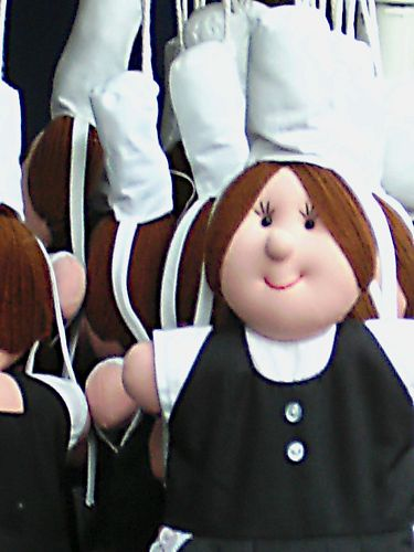 rudelweise bretonische Mädchen
