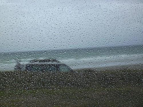 Tolle Aussicht durch's Busfenster. Die anderen Wohnmobilisten haben dieselbe, aber innen etwas mehr Platz im Wagen.