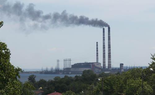 Heizkraftwerk in Burschtyn.