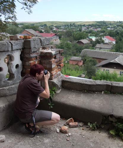 Der weite Blick übers Land begleitet uns den ganzen Tag, auch hier von der äußeren Kirchenempore