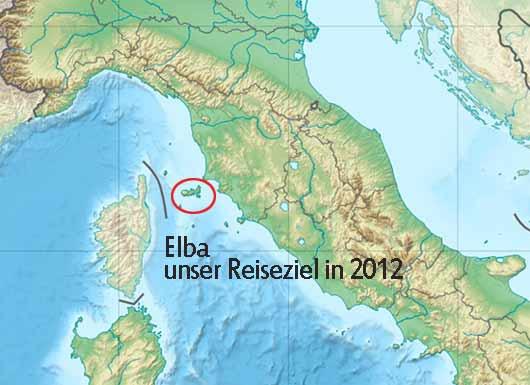 Zwischen Festland und Corsica gelegen. Kartenausschnitt Quelle:Wikipedia