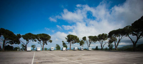 Offizieller Stellplatz in Montepulciano, 5 Euro für sechs Stunden als Minimum.