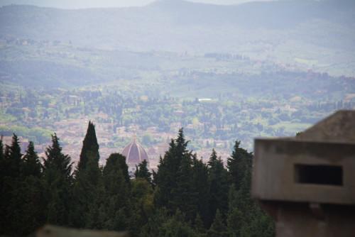 Blick vom Campingplatz auf Florenz