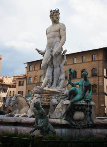 Neptunbrunnen an der Signoria.