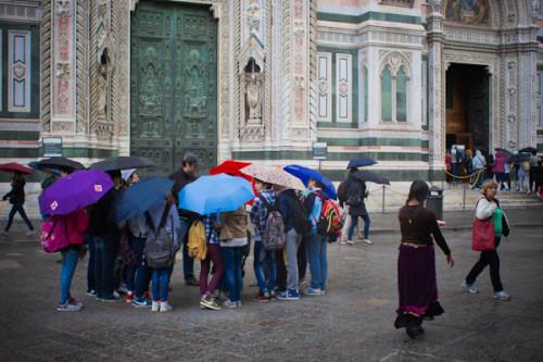 Regenschirmhändler machten hier das Geschäft ihres Leben.s