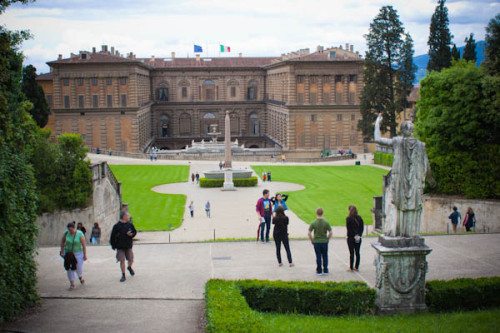 In den Boboli-Gärten, Blick auf Palazzo Pitti