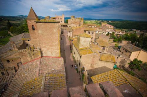 Blick vom Turm im Casa die Boccachio