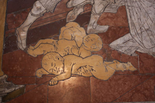 Detail Fußbodenmosaik