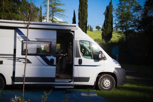 Auch auf dem Campingplatz blitzt die Klischeetoskana im Hintergrund durch.
