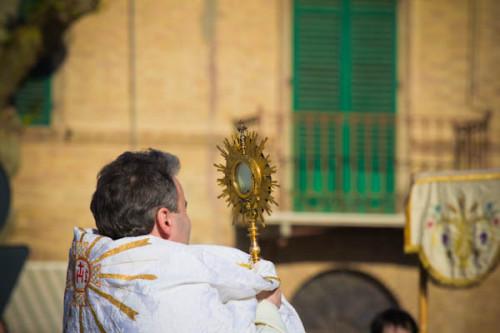 Während der Prozession