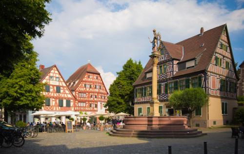 Ladenburg: eine Altstadt wie aus dem Bilderbuch.