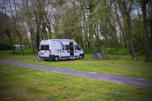Camping Greenpark, wenig los.