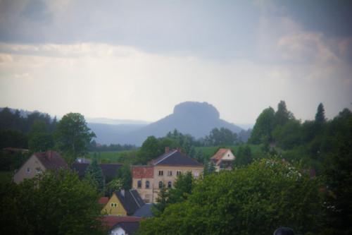 Lilienstein im Regen