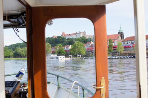 Auf der Fähre nach Copitz-Pirna