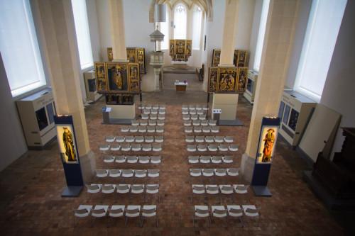 Die fünf gotischen Altäre. Sehr schönes Kooperationsprojekt zwischen Stadt und Kirche, die Kirche ist noch geweiht und wird genutzt, die Stadt finanziert das Museum. 3 Euro Eintritt.