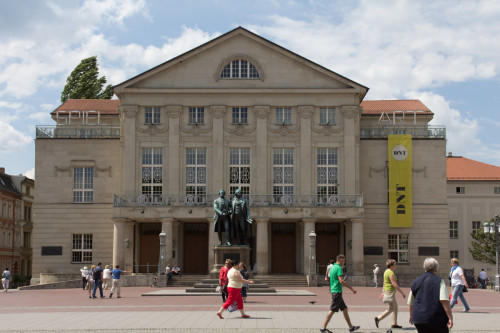 Die klassische Ansicht von Weimar …