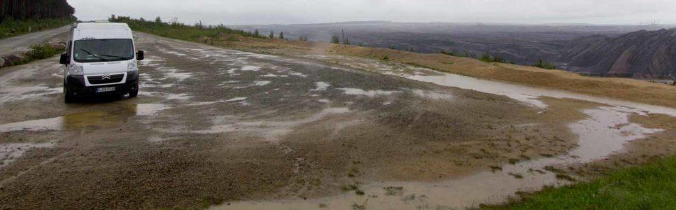 Braunkohle, Regen, Westpolen