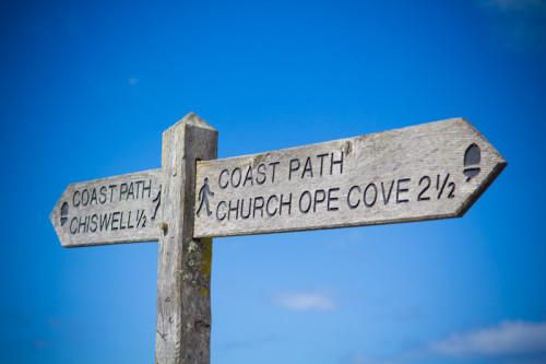 Gut geführt entlang dem South West Coast Path