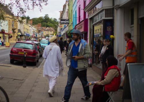 Glastonbury: Gurus auf der Straße