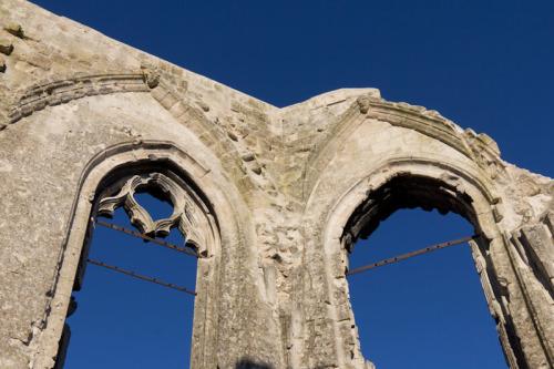 Die alte Kirche von Ablain-Saint-Nazaire – 1915 zerstört.
