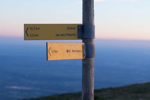 Mont Ventoux, 15 Minuten –im Gegenwind realistisch …