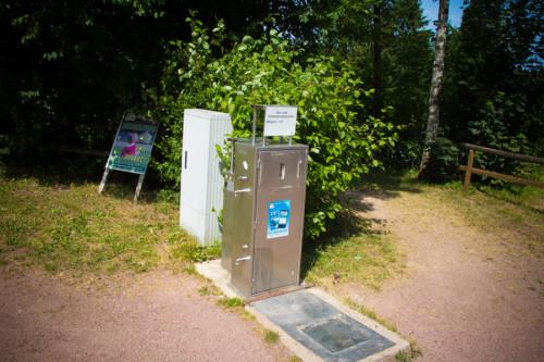 V/E-Station am Kronenburger See. Entsorgung frei, aber kein Nachspülen …