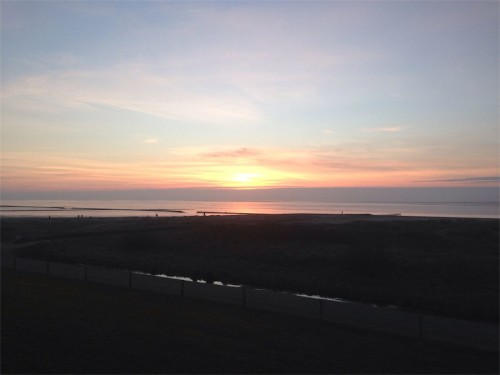 Alleine am frühen Morgen in Norddeich
