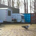 Bauwagen + Ente