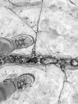Etretat Küste: Weißer Stein am Strand