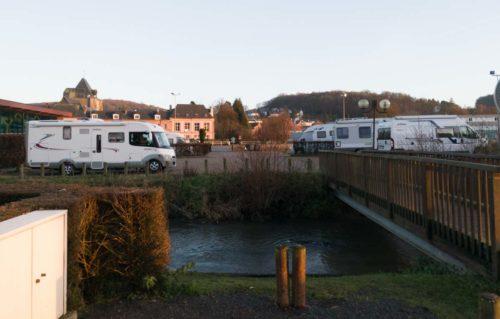 Wohnmobilstellplatz Montville bei Rouen Normandie