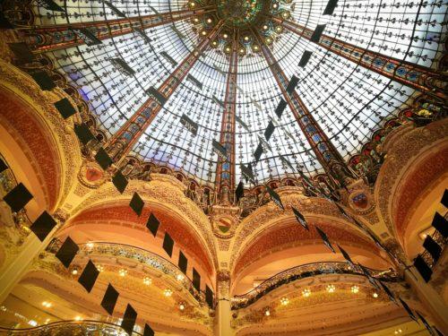 Galeries Lafayette Blick in die Kuppel