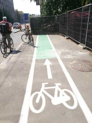 Super Fahrradweg – bis auf einmal …