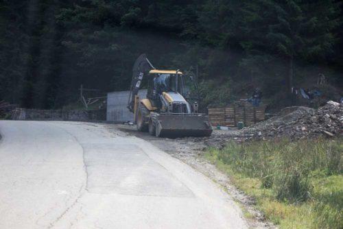 Rumänien Transalpina Baustelle