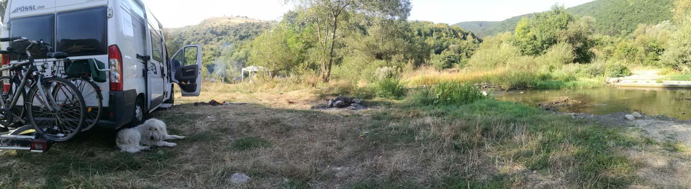 Wanderung in der Turda-Schlucht, endemischer Hirtenhund