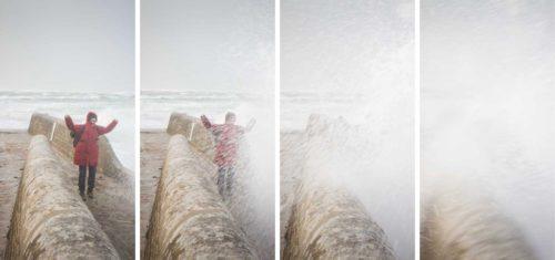 Wohnmobil Atlantikküste Winter - Wind und Gischt