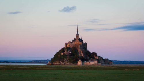 Blaue Stunde am Mont Saint Michel