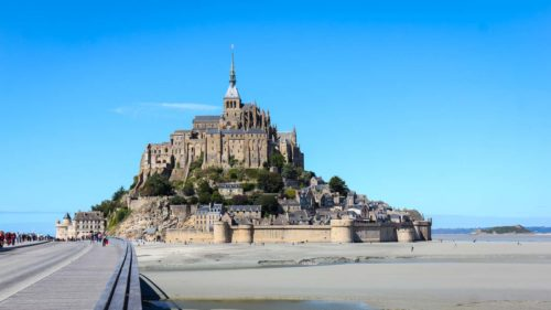 Näherung an Mont Saint Michel