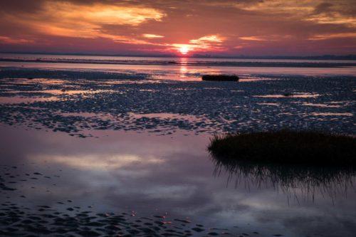 Sonnenuntergang über der Somme-Bucht